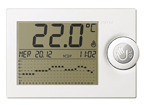 Vimar 01911 Cronotermostato programmabile settimanale da parete a batteria