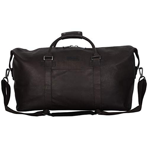 Kenneth Cole Reaction I Beg to Duff-er' Full-Grain Colombian Leather Top Zip 20' Carry-On Duffel Travel Bag, Brown