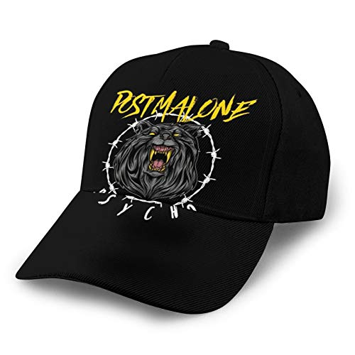 Po-S-T Ma-Lo-Ne Washed Adjustable Baseball Cap Peaked Cap Dad Hat Unisex Breathable Quick-Drying Top Hat Baseball Cap Men's Hat