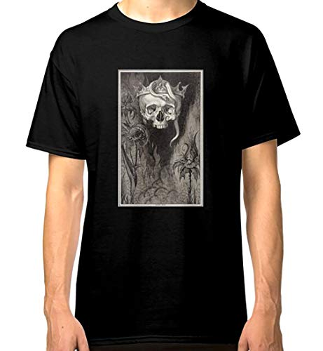 Hd Skull Crowned with Snakes and Flowers by Henry Weston Keen Classic Short Sleeves Shirt, Unisex Hoodie, Sweatshirt for Men Women