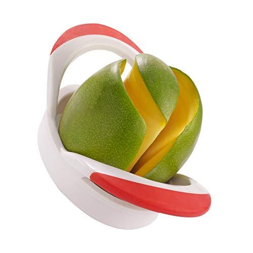 Westmark Coupe-Mangue, 20 x 10,5 x 6,5 cm, Acier Inoxydable/Plastique, Rouge/Argent, 51642270, Plastic, Blanc/Orange, 20x11x6 cm