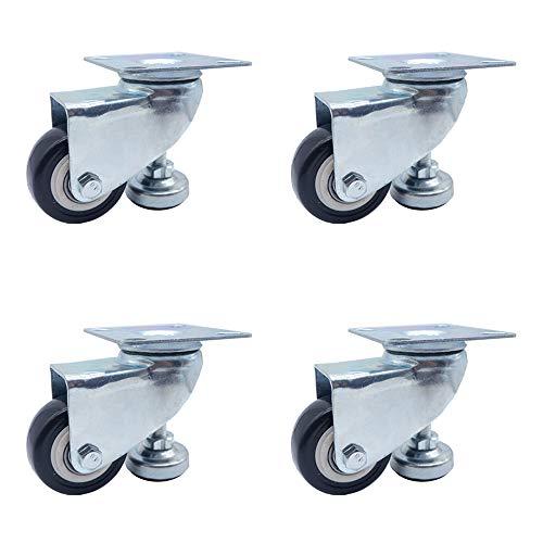 Polyurethan-Stützverstellung Radlager tragend waagerecht Fuß Cup Caster Wear Mute Universal-Rad, geeignet für Möbel Sitz elektronische Geräte
