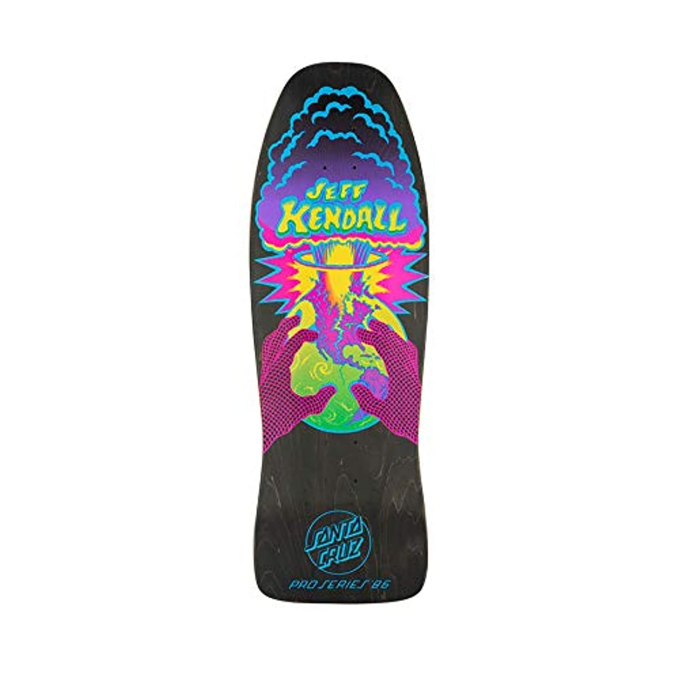 Santa Cruz Skateboard Deck Kendall End of The World Matte Black Stain