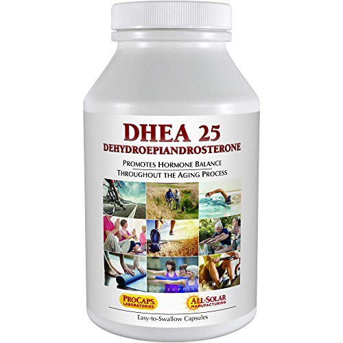 Andrew Lessman DHEA 25 mg - 240 Capsules - The Most Abundantly Produced Hormone in The Body - Dehydroepiandrosterone (DHEA). Supports Healthy Hormone Synthesis, Metabolism, Balance. No Additives