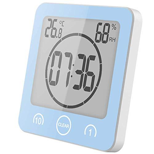 HCFSUK Compteur d'humidité de température numérique LCD, thermomètre hygromètre extérieur intérieur à la Maison, Station météo, minuteries de Salle de Bain de Cuisine