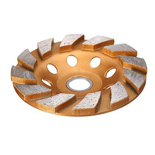 Segmento de 100 mm Muela abrasiva de diamante Disco de taza Molinillo de piedra de granito de hormigón Herramienta eléctrica de bricolaje Cerámica Metalurgia, como se muestra