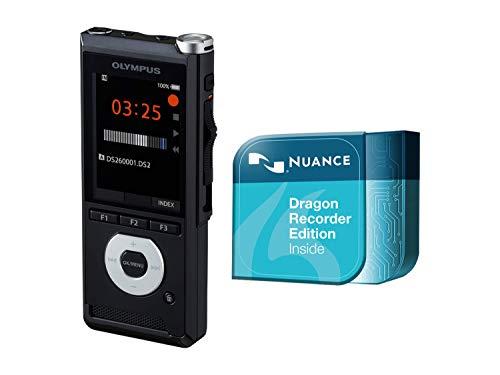 Olympus DS-2600| Digitales Diktiergerät mit Schreibfunktion mittels Spracherkennungs- & Diktatmanagement-Software |DSS Pro, MP3, PCM | USB | Integr. Schiebeschalter, SD-Karten-Slot + interner Speicher