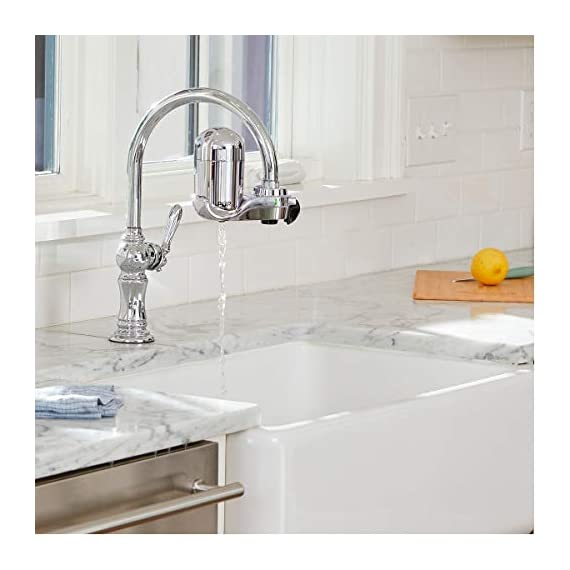 PUR FM-3700 Advanced Faucet Water Filter, Chrome 6 Advanced Faucet Filtration System: Featuring Sinple One Click Tool Free Attachment, There's Never Been an Easier or More Reliable Way to Get Healthier, Cleaner, Great Tasting Water Straight From Your Faucet Faucet Water Filter; PUR faucet filters provide 100 gallons of filtered water, or 2 3 months of typical use, before you need a replacement. Only PUR faucet filters are certified to reduce contaminants in PUR faucet filter systems WHY FILTER WATER? Home tap water may look clean, but may contain potentially harmful pollutants & contaminants picked up on its journey through old pipes. PUR water filters, faucet filtration systems & water filter pitchers reduce these contaminants