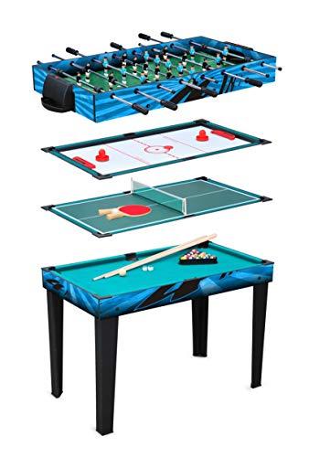 small foot 11279 Multifunktionstisch 4 in 1 aus Holz, Spielset mit austauschbaren Spielplatten, inkl. Zubehör