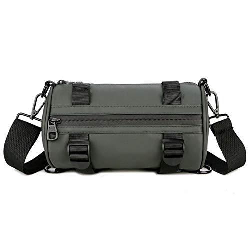 Oinna 1 bolso bandolera de piel impermeable para hombre, es ligero y compacto, muy práctico (verde).