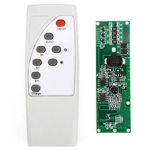 WAQU Placa de Circuito Solar de Radar controlado por luz - Placa de Circuito Solar Radar controlado por luz Inducción del Cuerpo Humano con Control Remoto