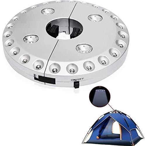 Sonnenschirm 28 LED Beleuchtung Schnurlose mit 3 Beleuchtungsmodi,Sonnenschirm Lichter, Batterie Betrieben für Garten Strand Außenleuchten BBQ Camping-Zelte oder Outdoor-Aktivitäten