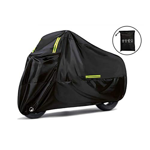 Cubierta de la Motocicleta 50+ UV Protectora Impermeable a Prueba de Polvo Universal para Moto Scooter Bicicleta Interior Almacenamiento al Aire Libre Nieve Cubierta Lluvia para Todas Las Temporadas