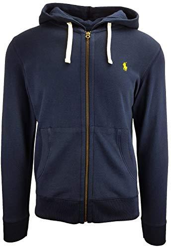 Ralph Lauren Herren Sweatjacke Hoodie Kapuzen Pullover Schwarz Navy Grau S M L XL, Original, Outletware, Farbe:Navy, Größe:S