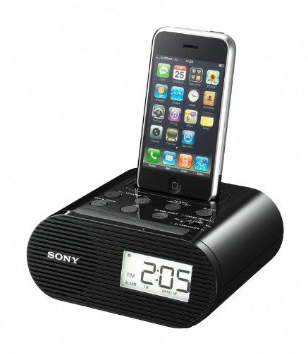 Sony ICF-C05IPB Uhrenradio mit Dockingstation für Apple iPod/iPhone