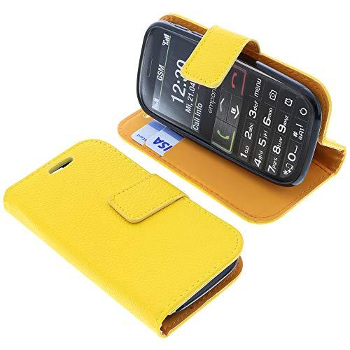 foto-kontor Tasche für Emporia Euphoria V50 Book Style gelb Schutz Hülle Buch