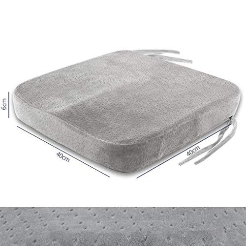 QWE Portable Ergonomic Seat Cushion Memory Foam Gel Non-Slip Cushion for Home Office Car Coccyx Cushion Relief Sciatica-C-40x40Cm(16x16Inch) DOISLL (Color : B)