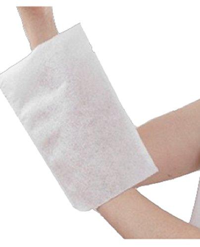 Gant de toilette à usage unique Stérilisable Non tissé molletonné blanc 75 gr/m². 230 x 160 mm/lot de 3 paquets de 50