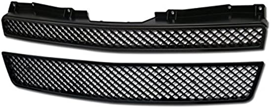 R&L Racing Black Finished Mesh Front Grill Hood Bumper Grille 2007-2014 for Chevy Tahoe/Suburban/Avalanche