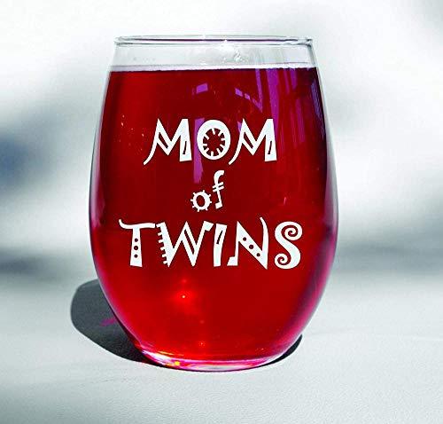 Mamá de gemelos Copas de vino / té Mamá gemela Regalos para madres gemelas Baby Shower Gemelos Gemelos Esperando gemelos Embarazo gemelo Revelar el día de la madre