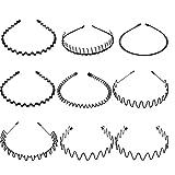 Anjing - Cerchietto per capelli da donna, in metallo, antiscivolo, 9 pezzi