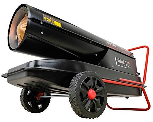DeTec. DT-50D Diesel Heizgebläse Heizlüfter Heizkanone 50 kW Dieselkanone schwarz (Leistung: 50.000 Watt, Gebläseleistung: 1100 m³/h, Tankvolumen: 48 L,Treibstoffverbrauch: 4,7 L/h)