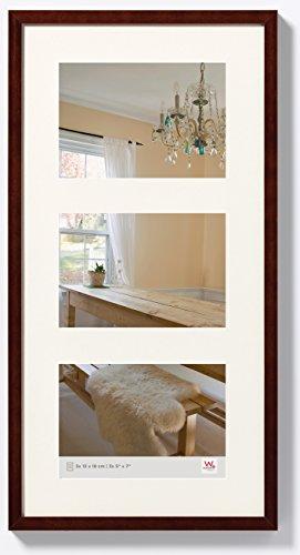 walther design BP338N Peppers Galerie Bilderrahmen, Holz, 3 x 13 x 18 cm, nussbaum