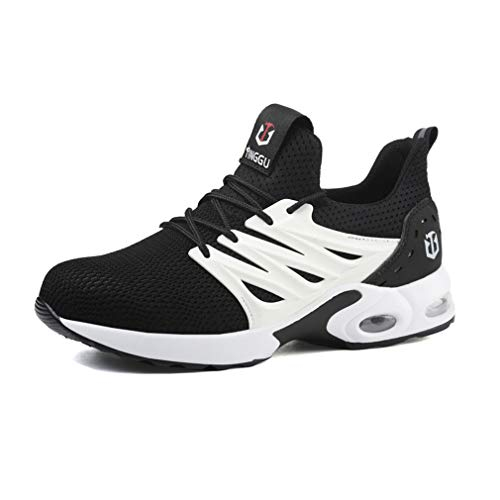 jincan Zapatos de Seguridad para Hombre Zapatillas con Punta de Acero Zapatos de Trabajo Ligeros Zapatillas industriales Transpirables para Mujer - JI02