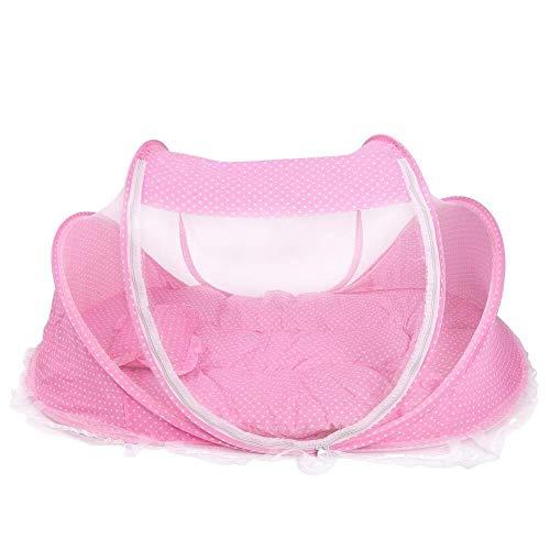 MISLD baby muggentent, draagbare opvouwbare anti-bug wieg wieg wieg tent met matras kussen voor baby baby baby