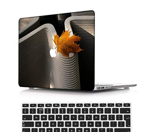 NEWCENT MacBook Pro 13' Retina Funda,Plástico Ultra Delgado Ligero Cáscara Cubierta EU Teclado Cubierta para MacBook Pro 13 Pulgadas Sin CD-ROM/Táctil(Modelo:A1502/A1425),Flores A 0209
