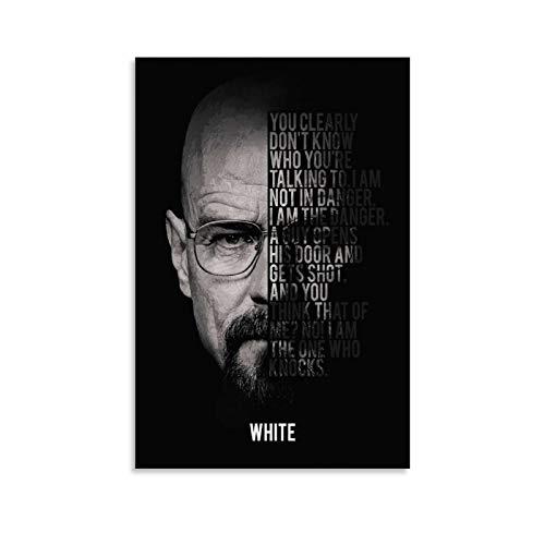 LIANGBO Breaking Bad Walter White Poster decorativo da parete per soggiorno, camera da letto, 30 x 45 cm
