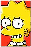 cuadros decoracioncuadroslienzowall art|60x90cm|Frameloos Los Simpsons Office work Anime C oon Lisa Simpson Chic Office