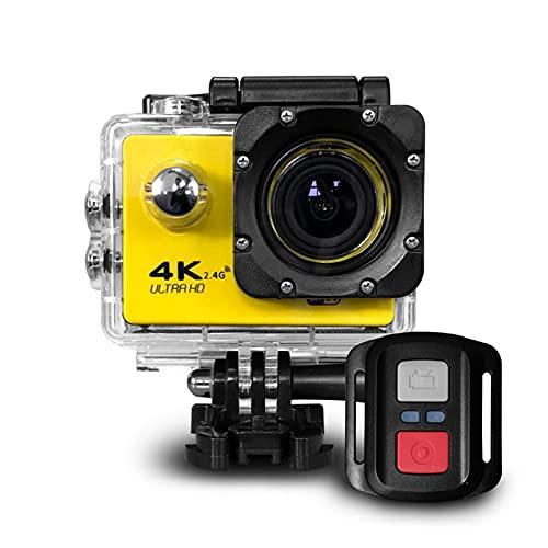 MIKLL 4K Action Cam 12MP WiFi Telecomando Fotocamera Subacquea Impermeabile 30M Sott Acqua Sports Camera Schermo 2 Pollici 170 Gradi Grandangolare Microfono Esterno 2x1050mAh batterie e Accessori