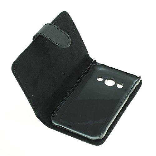 Mobilfunk Krause - Book Hülle Etui Handytasche Tasche Hülle für Samsung SM-G389F / G389F (Schwarz)