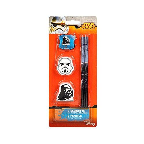Bleistift mit Radierer 2 Stück Star Wars