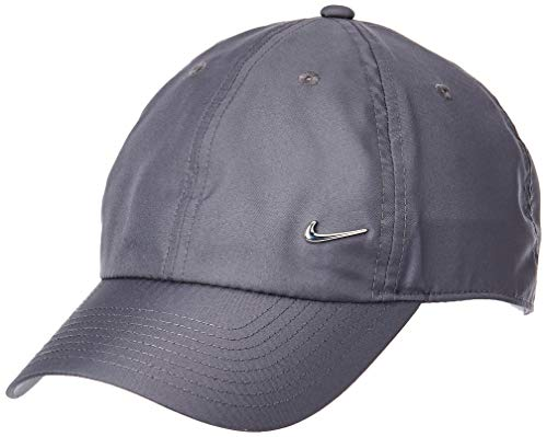 Nike Metal Swoosh H86 Cap, Dark Grey/Metallic Silver, One Size