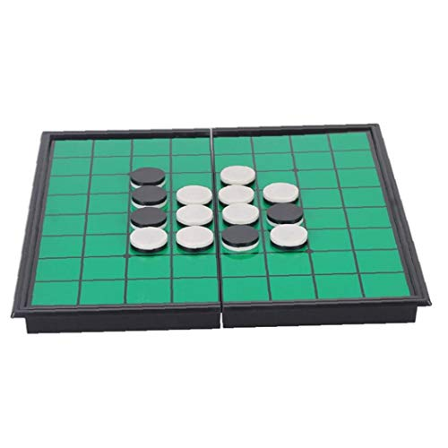 NaiCasy Othello tragbare Falten Othello Spiel Reversi Othello Strategie-Brettspiel Grün