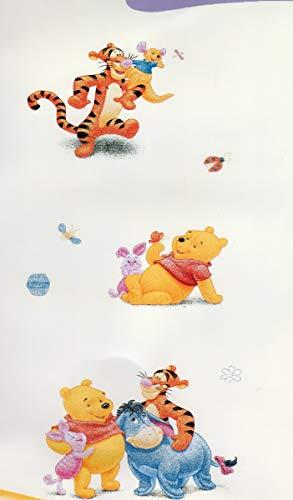 Tende cameretta bambini originale DISNEY Tigger&Pooh -bxh140x290 cm-tende confezionate con occhiolli-var.giallo (A-1 pannello 140x290 cm)