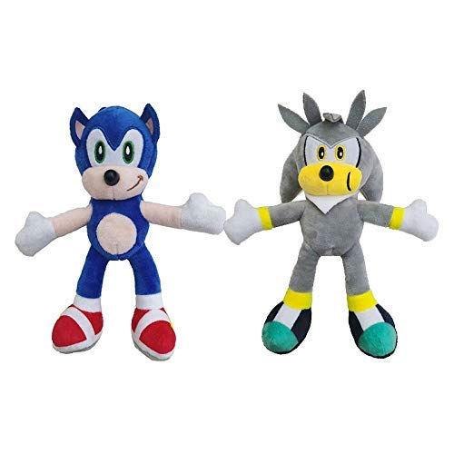 Sonic el Erizo sónico 2pcs Silve Juguetes de Peluche Animado Juego de Sonic The Hedgehog muñeca Regalo for los Cabritos WTZ012