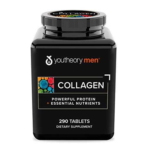Youtheory Collagen for Men - with Biotin, Vitamin C and 18 Amino Acids, 290 Tablets (1 Bottle)