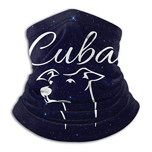 XXWKer Microfibre Chapeaux Tube Masque Visage Tour de Cou Cagoule, Cuba Dog Men & Women Face Windproof Neck Bandana For Cycling