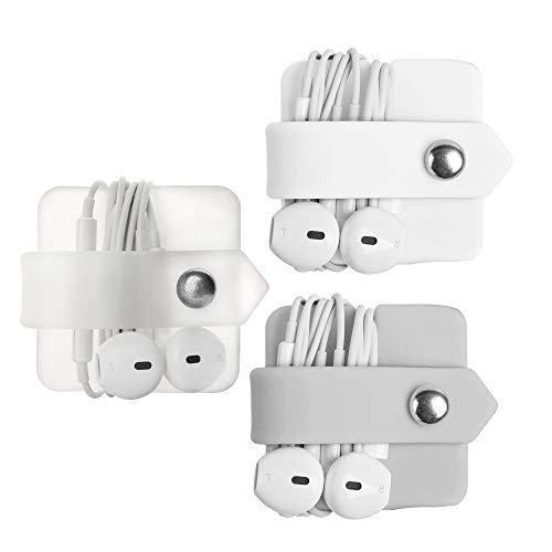 ELFRhino Sistema de gestión de Cables Organizador de Cables Carga eléctrica para Accesorios de Escritorio de Oficina en casa Juego de 3