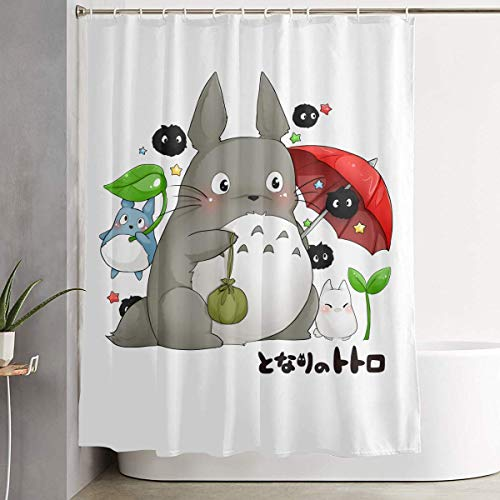 ugongchengyouxi Cortina de la Ducha My Neighbor T-Oto-ro Shower Curtain Custom Bath Curtain for Laundry Soft Waterproof Bathroom Decoration 60 x 72 Inch