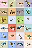 Bdgjln Puzzle 1000 Piezas-Mundo de Dinosaurios para niños-Rompecabezas Grandes Educativo El Alivio del Estrés para Adultos Niños-50x75cm