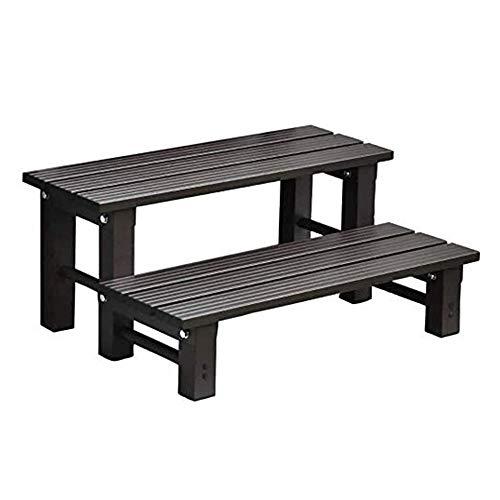 iimono117 ベンチ アルミ 踏み台 ステップ 庭 玄関 台 組み合わせ自由 ステップ台 腰掛け 庭用 チェア 玄関 ベンチ (2段タイプ幅: 74cm)