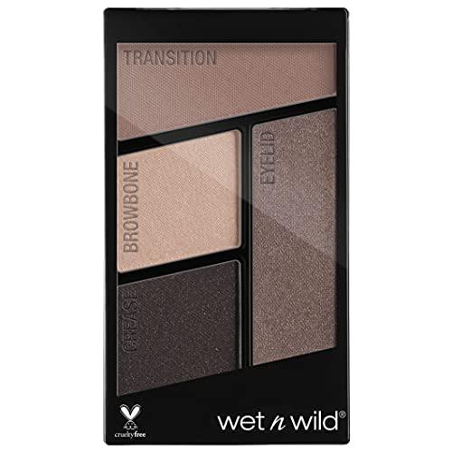 Wet n Wild - Color Icon Eyeshadow Quads - Pequeña Paleta de Sombras de Ojos con una Mezcla de Sombras Brillantes y Mates, de Larga Duración y Fáciles de Mezclar - Silent Treatment