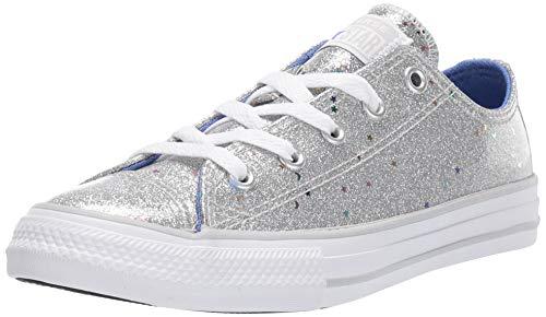 CONVERSE Chuck Taylor All Star Galaxy Glimmer OX Zapatillas Moda Chicas Plata Zapatillas Bajas