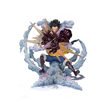 MIRECLE Anime 4th Gear Luffy Lion Rocket Launcher Decoration Model Gift 20cm