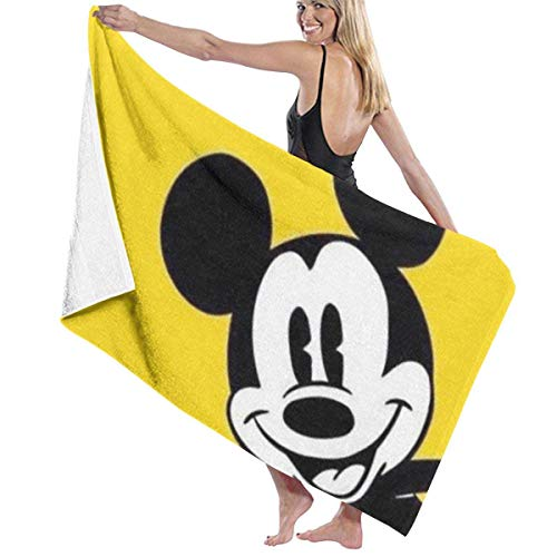 Pikachu Toalla de playa para piscina, 81,2 x 132,1 cm, para mujeres, niños, niños, adultos, hombres-Mickey Mouse1