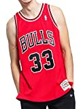 Mitchell&Ness Chicago Bulls Blusas, Rojo (Scarlet), S para Hombre